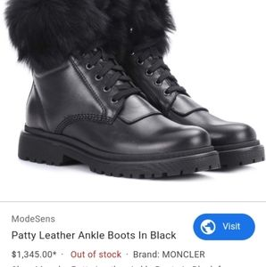 MONCLER FEMALES LEATHER BOOTS